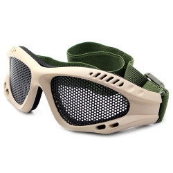Lunettes Airsoft Steel Mesh Coyote