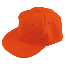 Casquette base-ball orange fluo