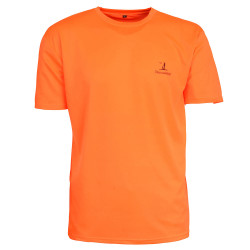 Tee-shirt chasse orange fluo