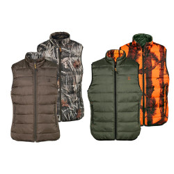 GILET CHASSE WARM REVERSIBLE Mix