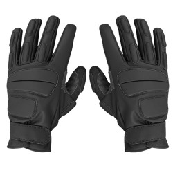 Gants d'intervention cuir Noir