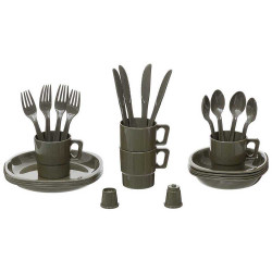 Kit camping gamelle repas couverts