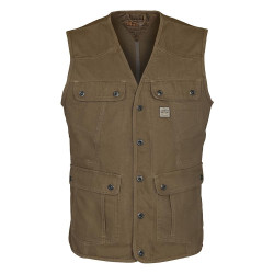 GILET COUNTRY Marron